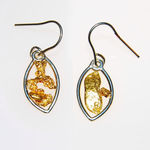 9ct White Gold Hanging Earrings